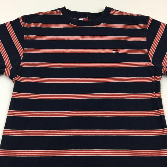 ebf9cb029 Tommy Hilfiger Tops   Vintage Tee 90s Striped T Shirt Xl   Poshmark